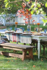 peek through fall tablescape