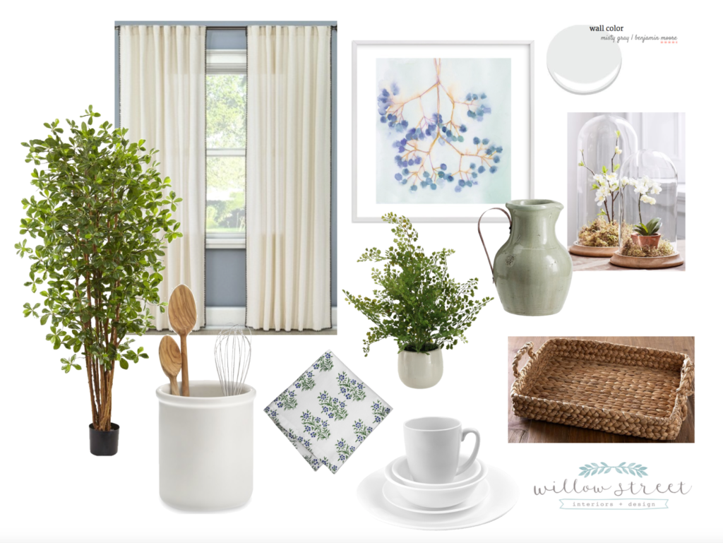 dining nook mood board