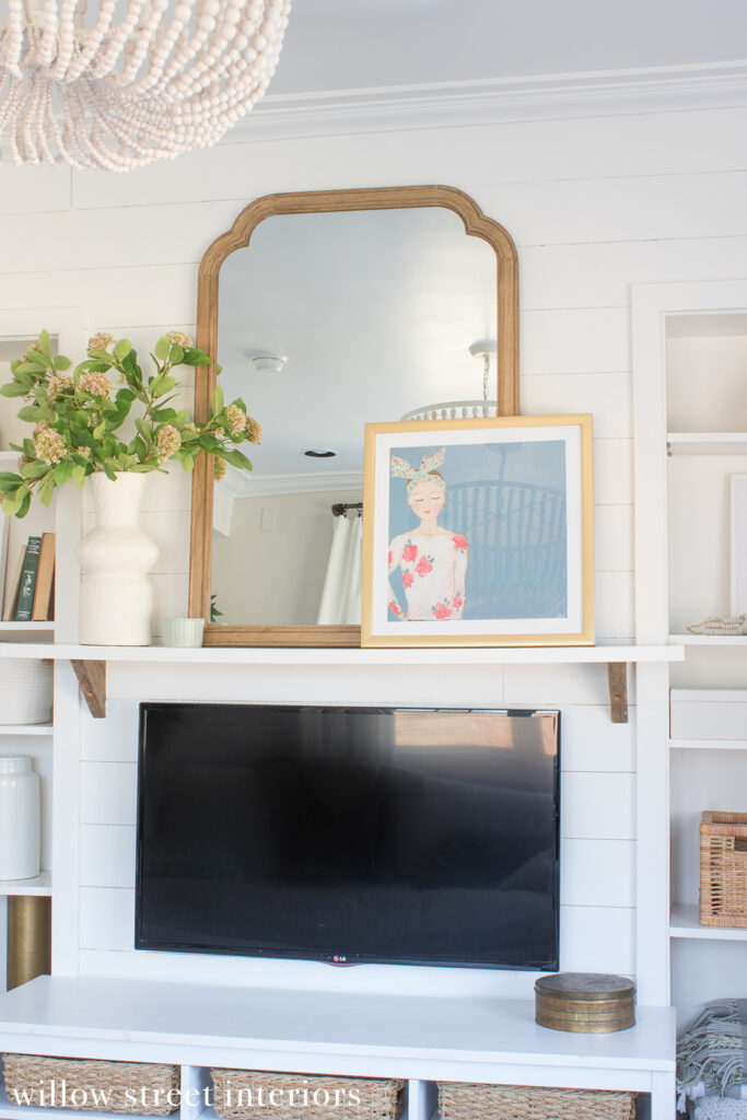 Seasonal Simplicity Spring Mantel Decorating Idea