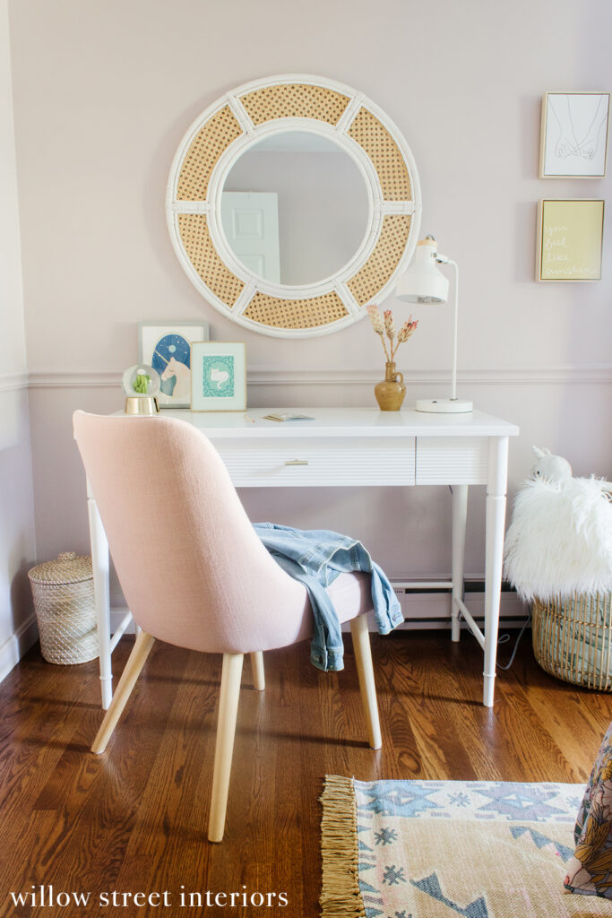 Earthy and Feminine Girls Room Reveal