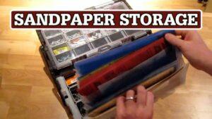 Sandpaper Storage System