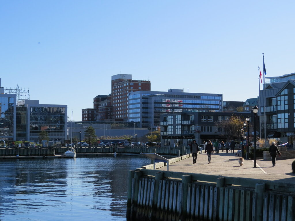 An image of halifax harbour and the boardwalk