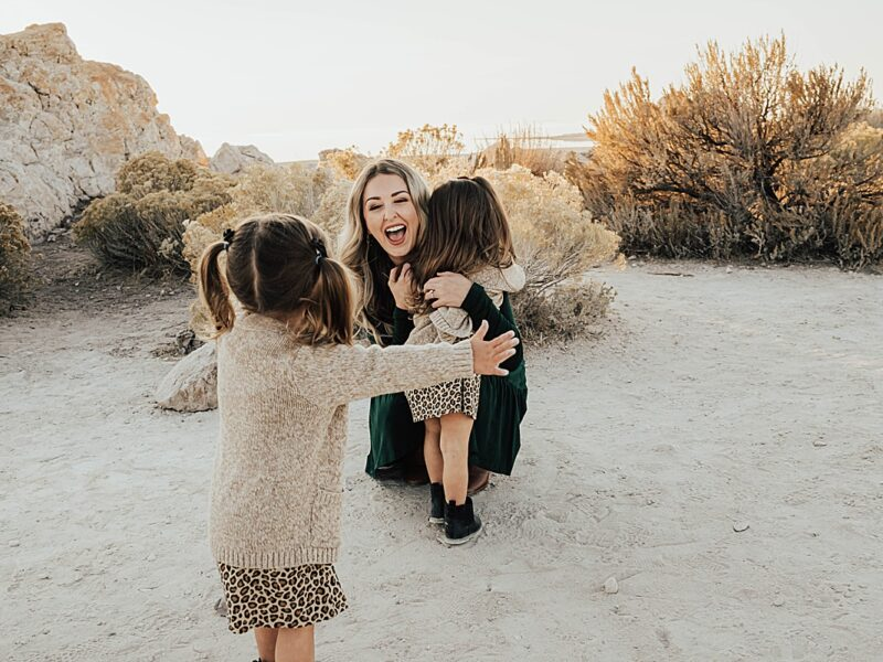 Two Year Old Twins, Outdoor Exploration, and Blissful Family Love || Antelope Island Family Pictures
