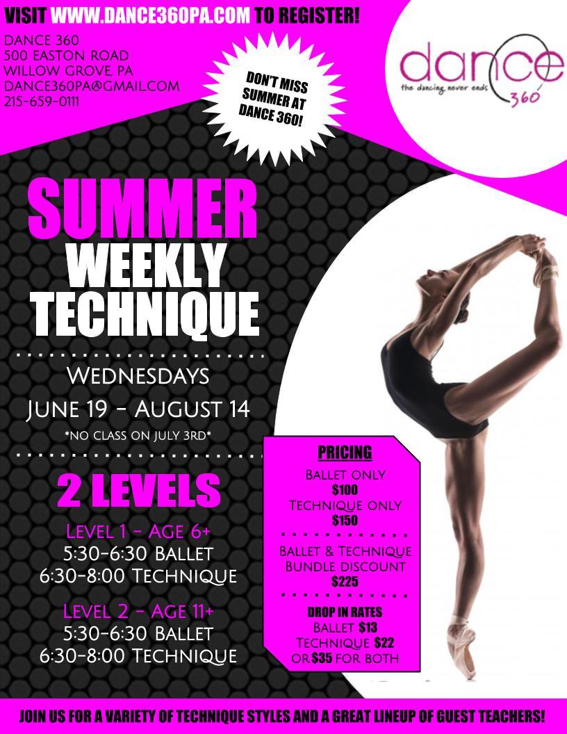 Summer Weekly Technique