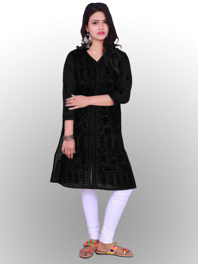 Are you an admirer of intricate embroidery work? Then the range of black chikankari garments available online at Amazon India is sure to excite you.