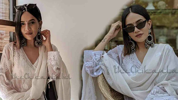 Everyday Chikankari Outfit: Komal Pandey Edition