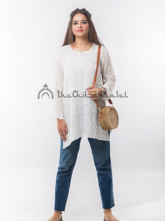 Buy Cotton Short top White Online (2)_compressed