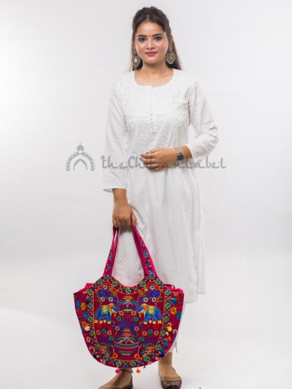 Buy Cotton Straight Kurti White Online (2)_compressed