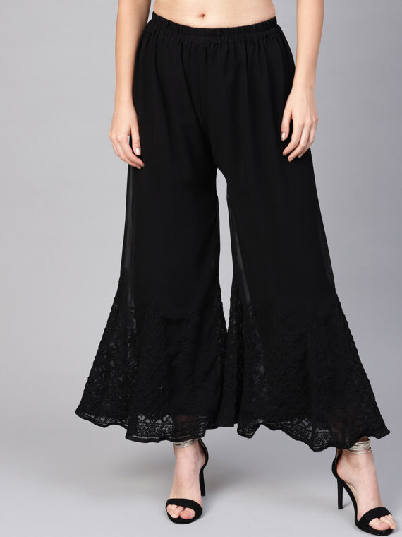 42639967-4d86-4bab-abbf-311bb364500d1570100625658-Saadgi-Women-Black-Hem-Design-Flared-Palazzos-94415701006236-1