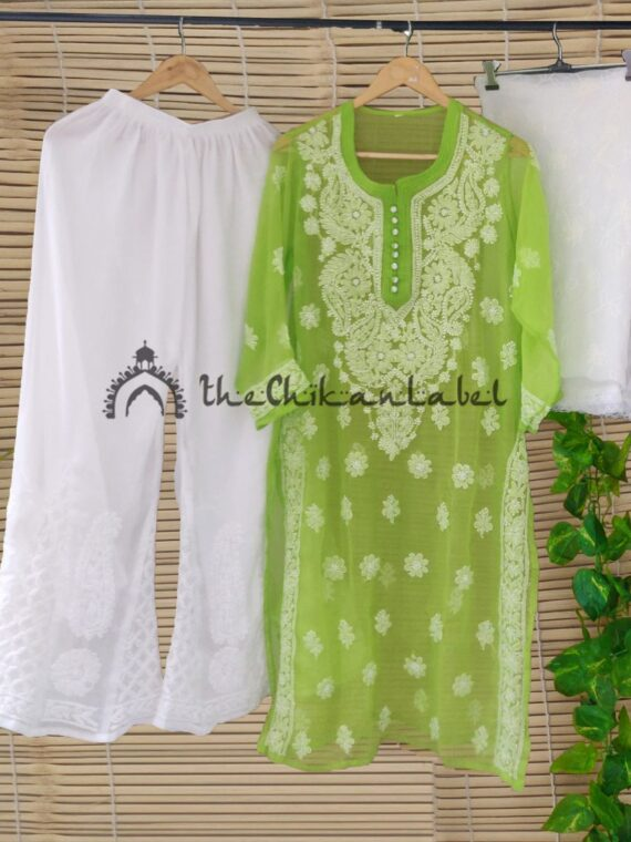 Thechikanlabel Green Georgette Kurti (1)_compressed