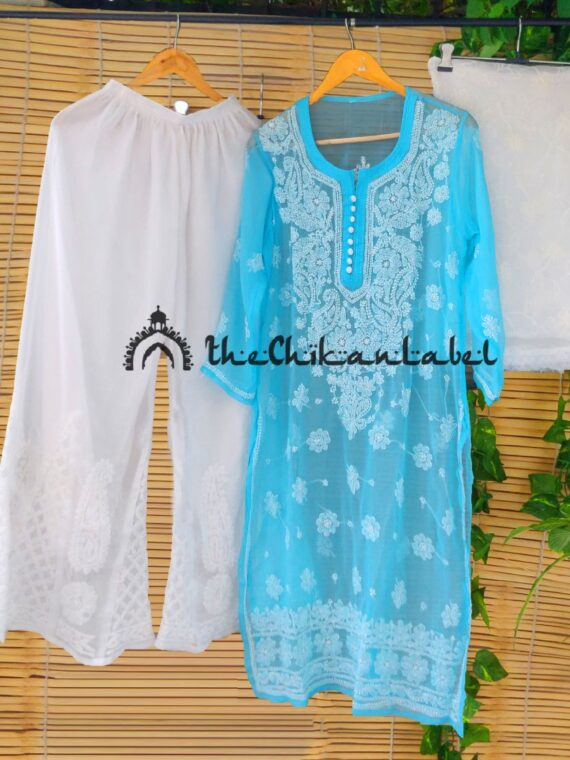 Thechikanlabel Sky Blue Georgette Kurti (2)_compressed