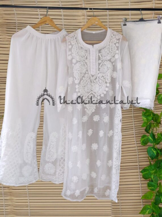Thechikanlabel White Georgette Kurti (1)_compressed