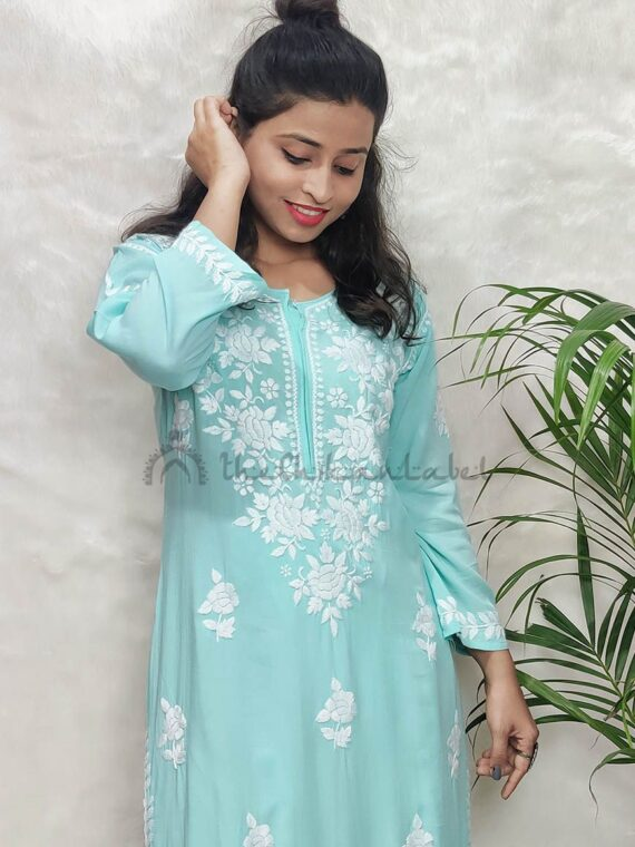 Buy Lucknowi chikan kurti karishma taan chikanakri kurti best rates wholesale 121_compressed
