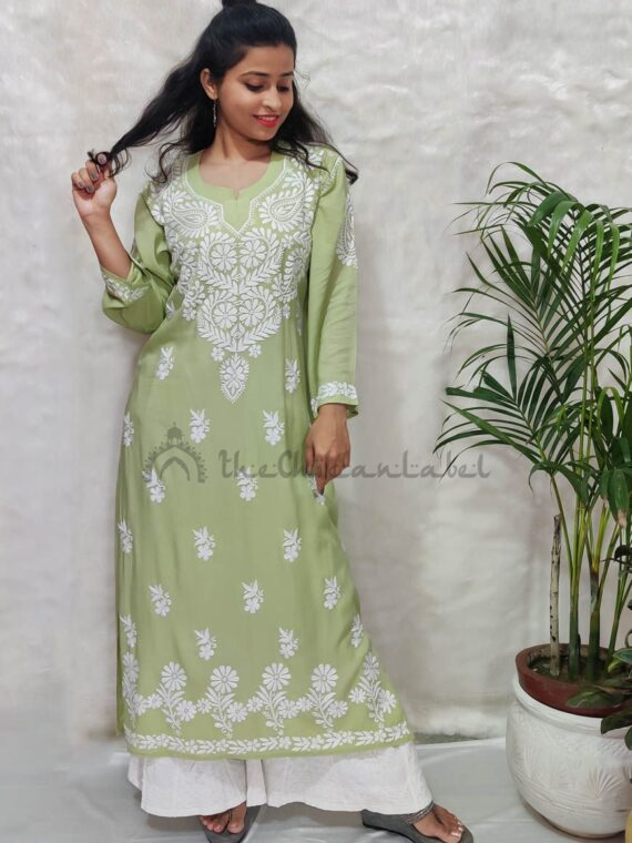 buy karishma tanna modal chikan lucknow chikanakri kurti online at best prices_compressed