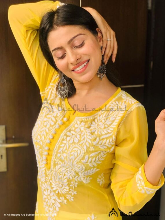 aparna dixit yellow georgette kurti chikan kurta buy online_compressed