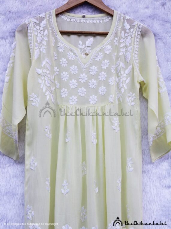 Lime Yellow Modal Short Kurti 02