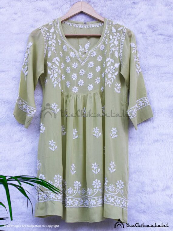 Mehendi Green Modal Short Top 02