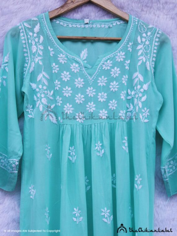 Sea Green Modal Short Kurti 02