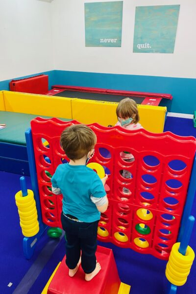 Two little kids playing
