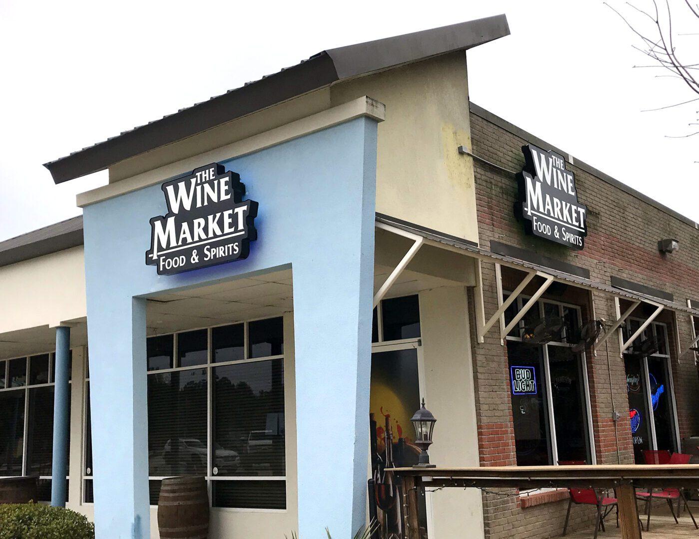 Wine Market Corner Signage