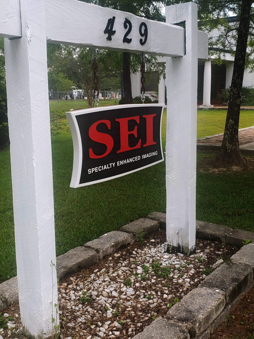 SEI Specialty Enhancing Imaging Sign