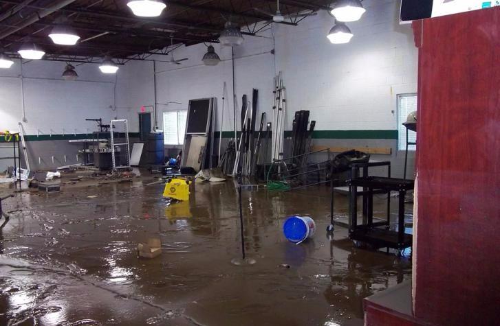 Indoor Water Damage on Concrete