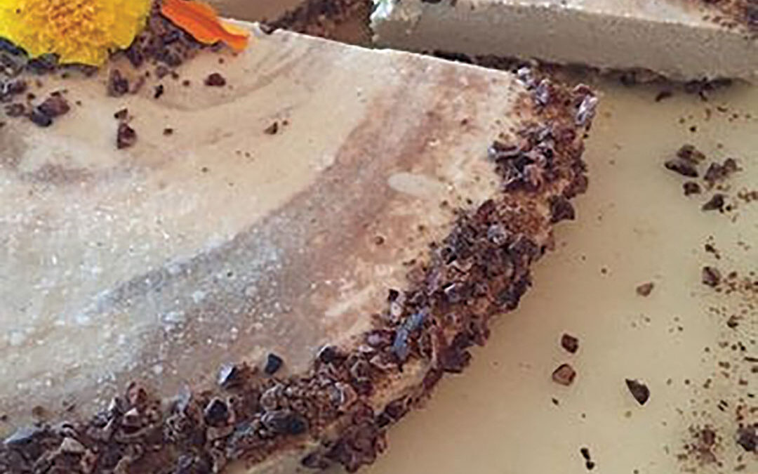 Cashew Cheese Cake with Cocoa Nibs