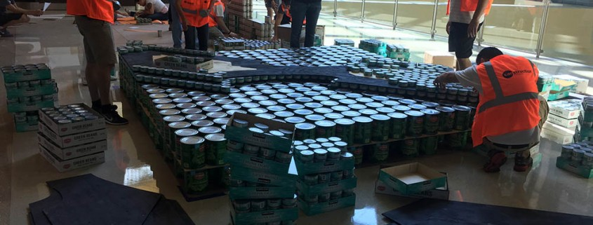 St. Mary's Food Bank CANstruction