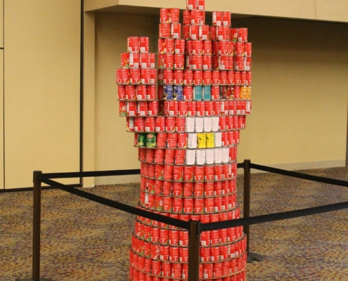 Iron Man's Gauntlet made from Cans