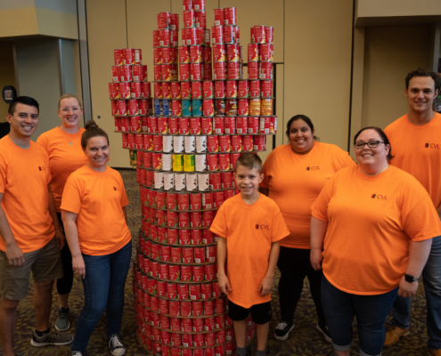 CVL Team and Their CANstruction for 2019