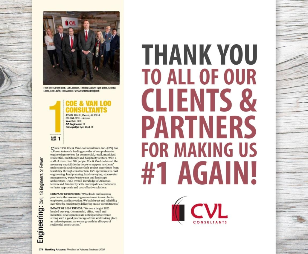 Thank you to all of our Clients and Partners Coe & Van Loo Consultants Inc
