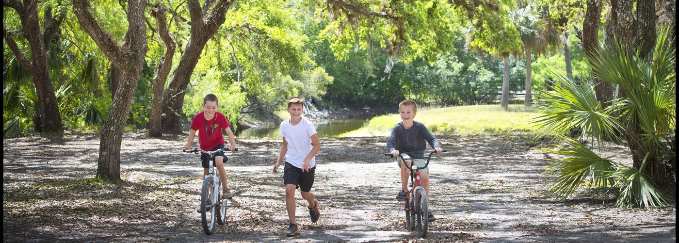 Biking at Fisheating Creek Outpost