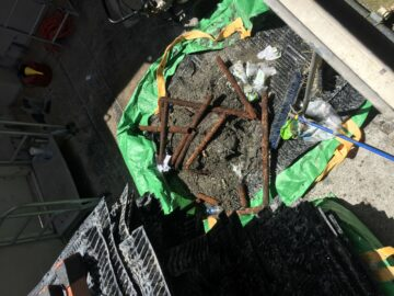debris from a cooling tower cleaning - cooling tower experts