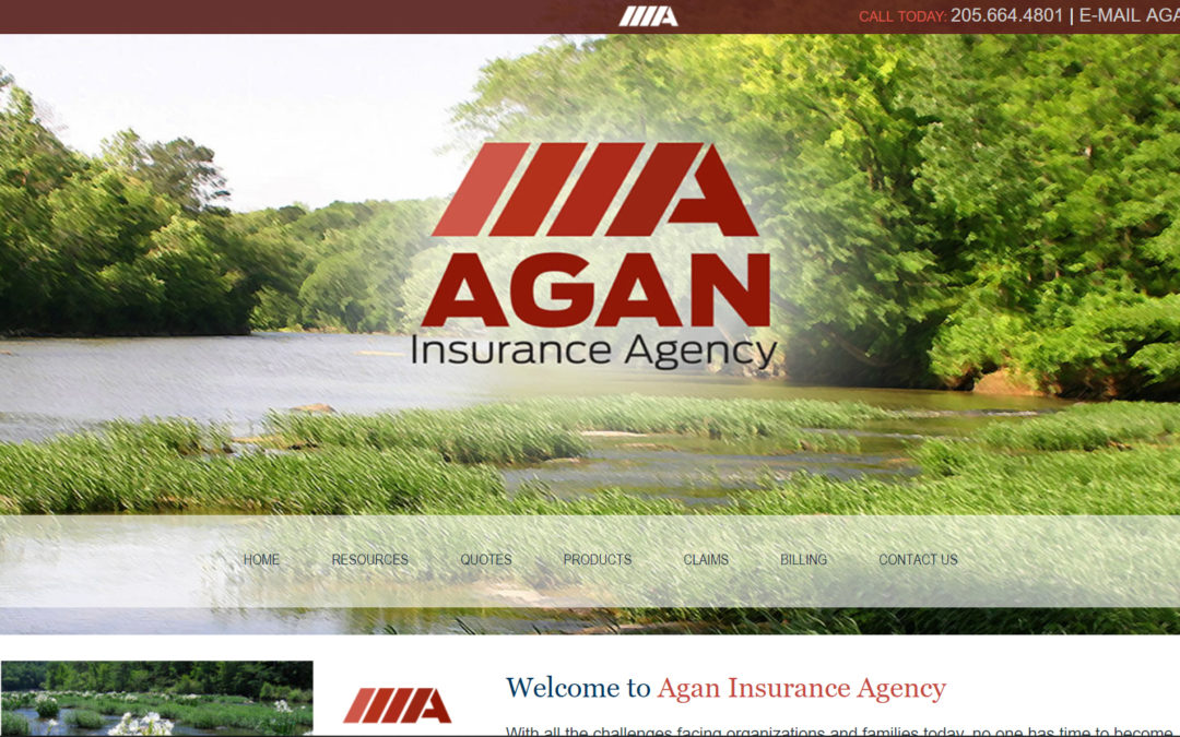 Agan Insurance Company Custom Website Design and Branding Pelham, AL