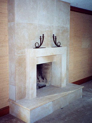 Galil-Sandblasted-Fireplace