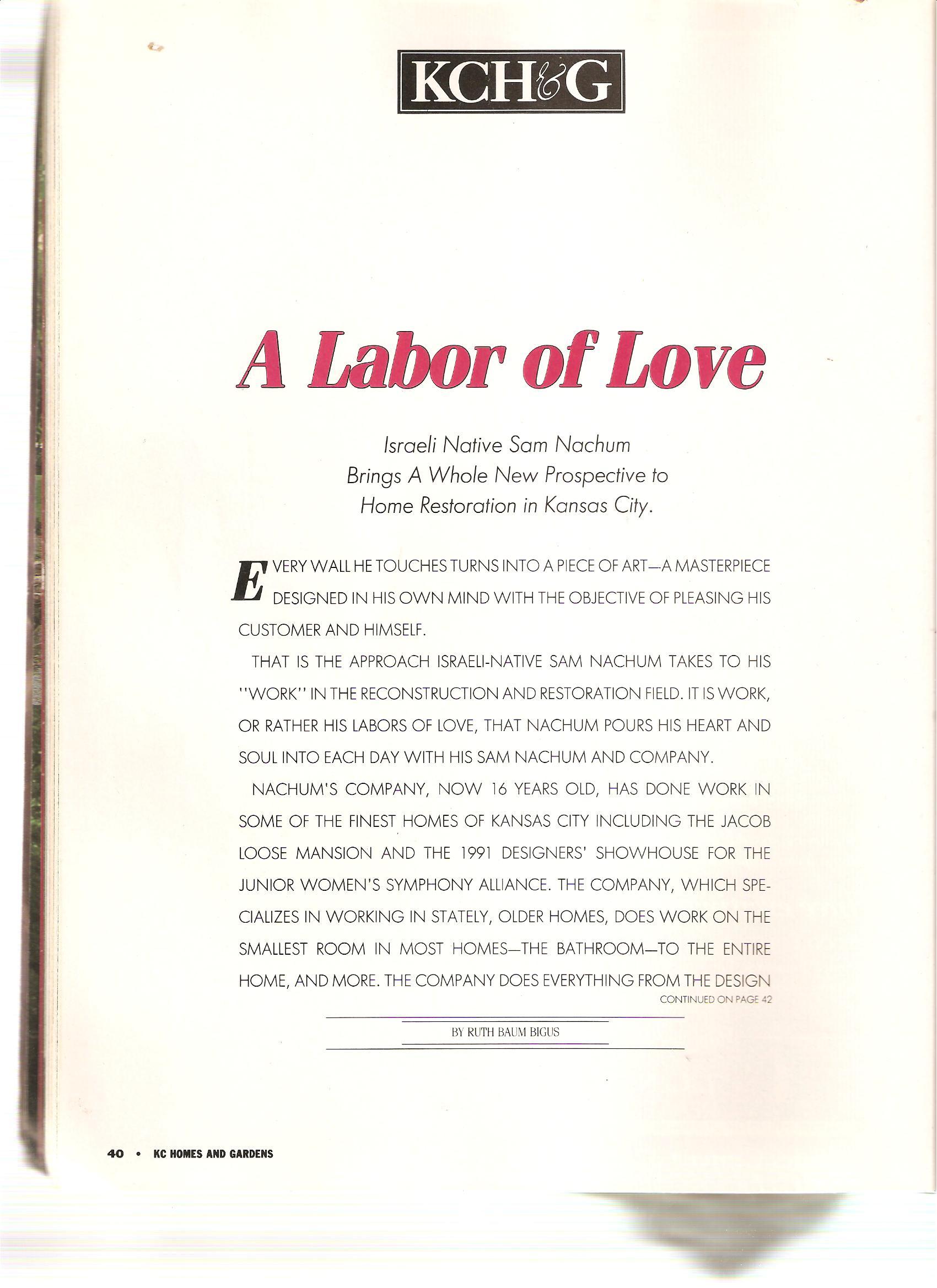 KCHG Labor of Love
