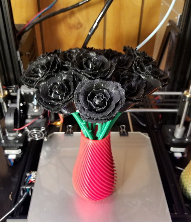 3d-Printing a Bouquet of Roses