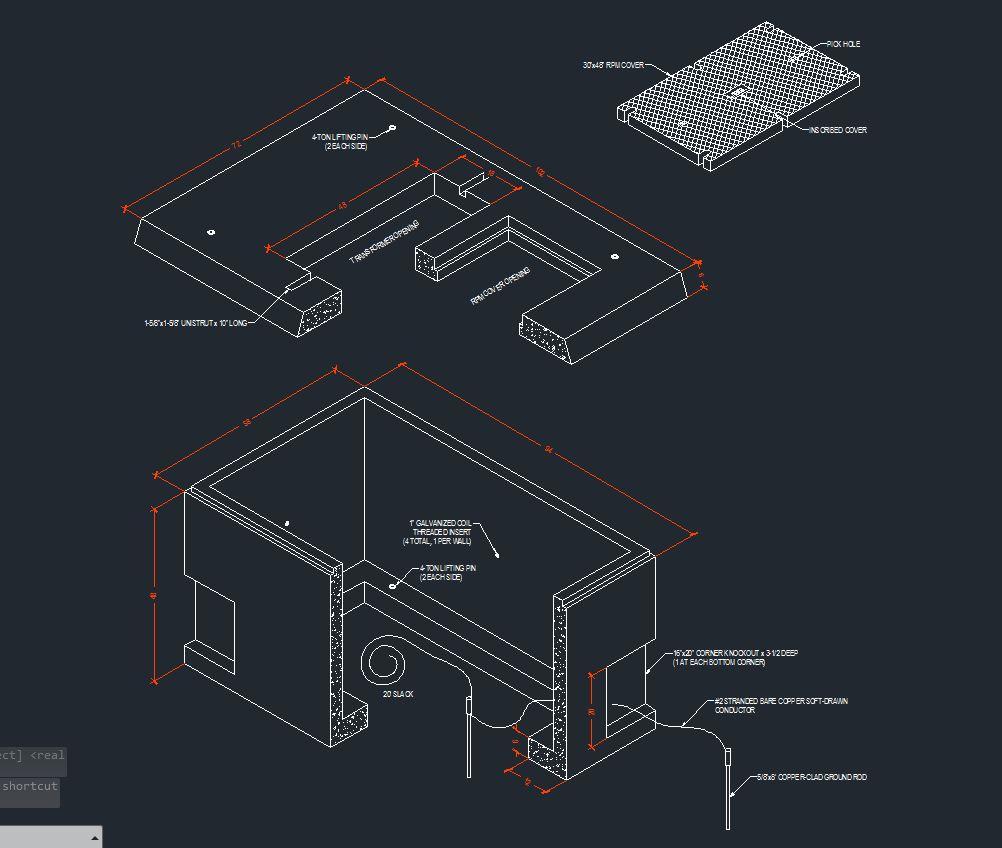 Slab Box Detail AutoCAD
