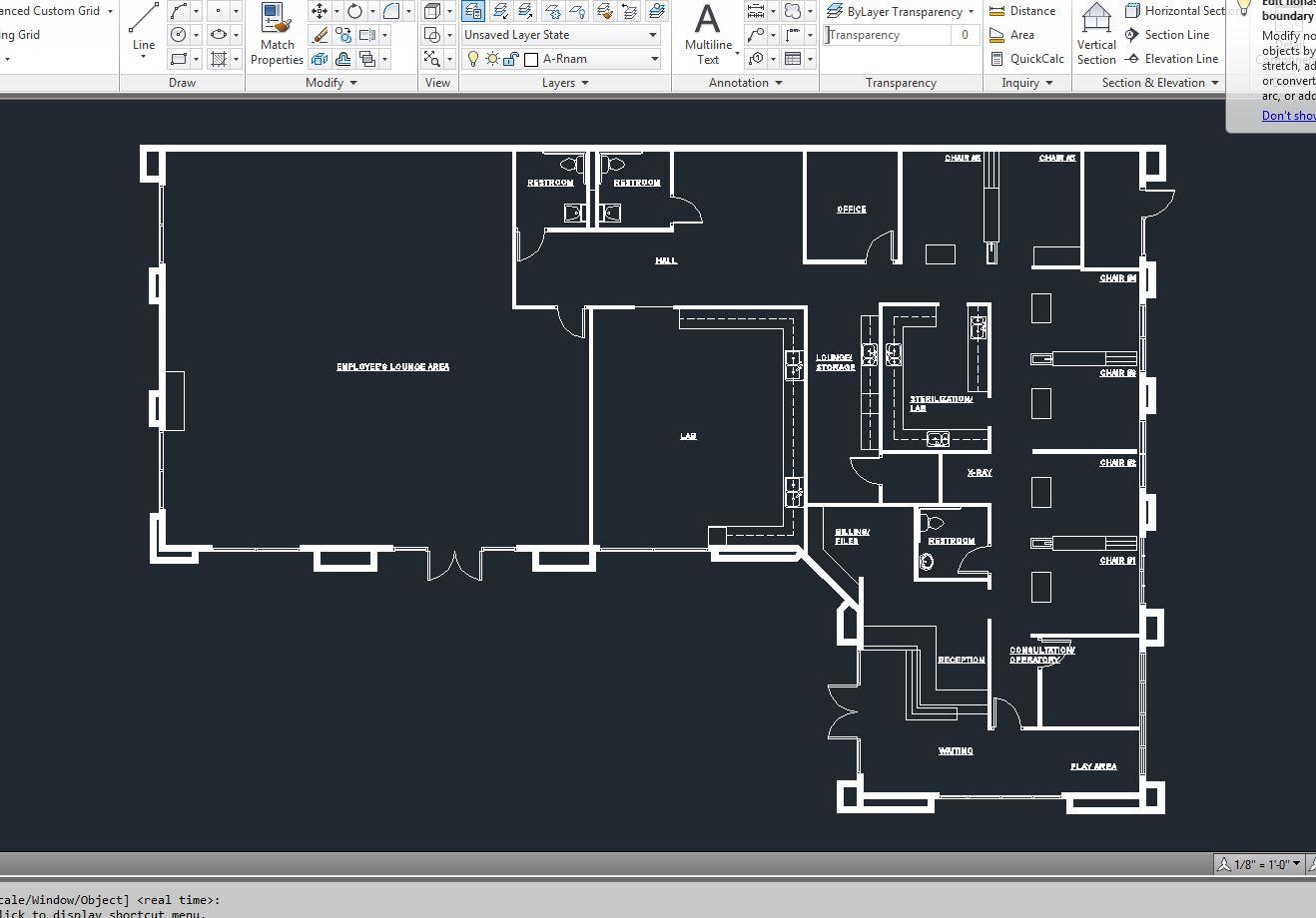 Dentist Building Floor Plan AutoCAD