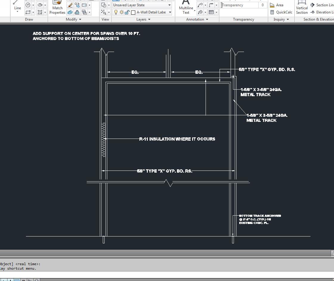 Ceiling Detail AutoCAD