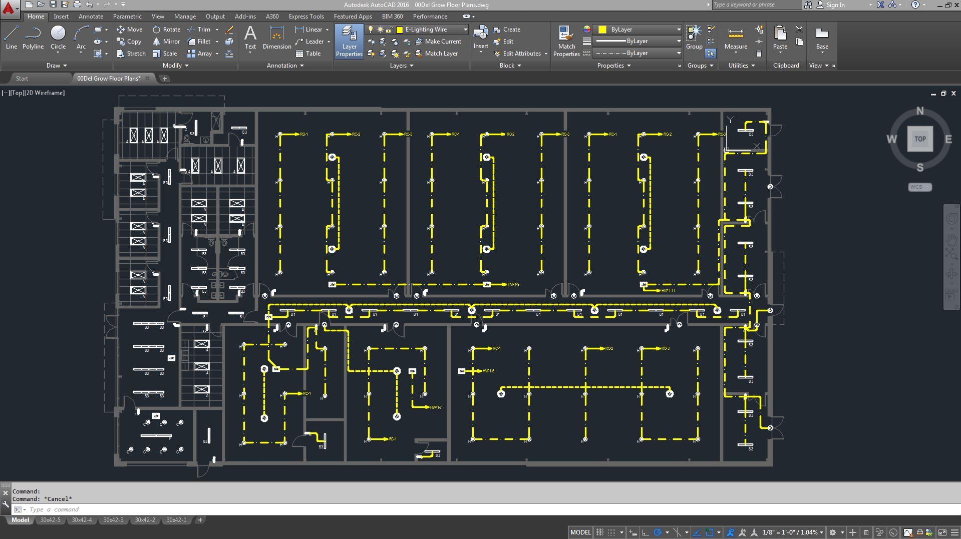 Lighting Plan AutoCAD