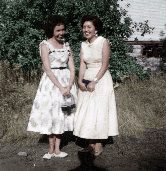 Muriel June and Betty Jean Joe