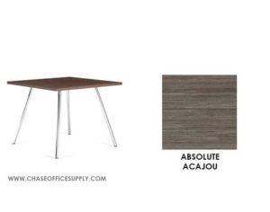 3366 - END TABLE 24D x 24W x 17H COLOR  - ABSOLUTE ACAJOU