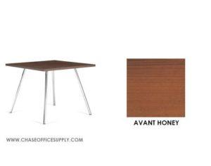 3366 - END TABLE 24D x 24W x 17H COLOR  - AVANT HONEY