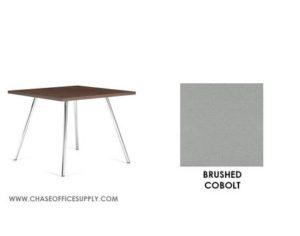 3366 - END TABLE 24D x 24W x 17H COLOR  - BRUSHED COBOLT