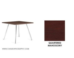 3366 - END TABLE 24D x 24W x 17H COLOR  - QUARTERED MAHOGONY