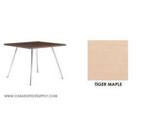 3366 - END TABLE 24D x 24W x 17H COLOR  - TIGER MAPLE