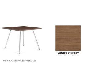 3366 - END TABLE 24D x 24W x 17H COLOR  - WINTER CHERRY