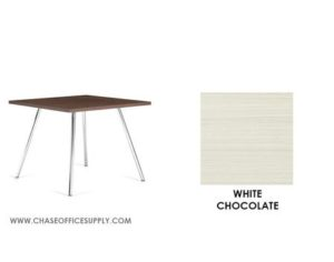 3366 - END TABLE 24D x 24W x 17H COLOR  - WHITE CHOCOLATE