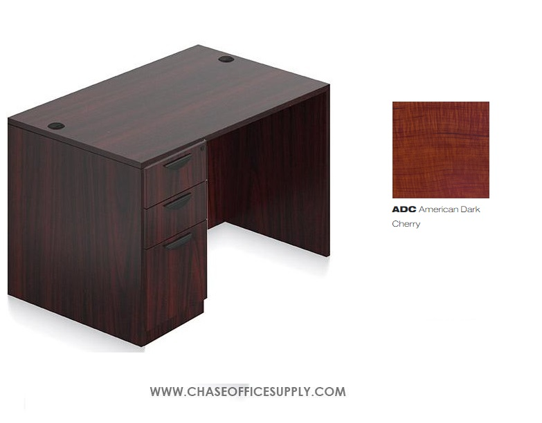 SL3060DS - DESK 30D x 60W x 29H  SINGLE LEFT OR RIGHT PEDS - DARK CHERRY *MKPD - IN STOCK FOR FAST DELIVERY!